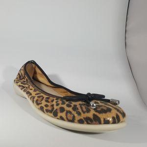 The Flexx Cheetah Print Suede Ballet FlT